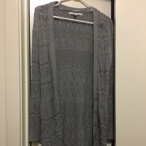 LC Lauren Conrad Pointelle Long Cardigan